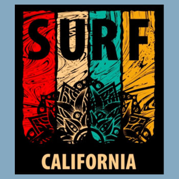CALI SURF - PREMIUM S/S T-SHIRT - LIGHT BLUE Design